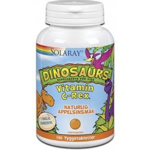 Bilde av Solaray Dinosaurs Vitamin C-Rex 100 tyggetabletter