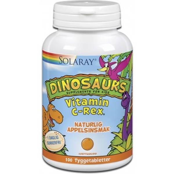 Solaray Dinosaurs Vitamin C-Rex 100 tyggetabletter