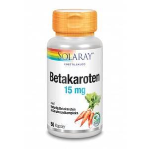 Bilde av Solaray Betakaroten 15 mg 50 kapsler