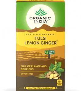 Bilde av Organic India Tulsi Lemon Ginger Tea 25 poser