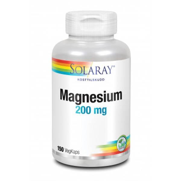 Solaray Magnesium 200 mg 150 kapsler