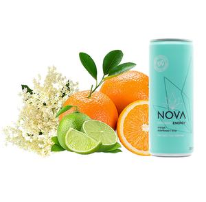 Bilde av Nova Organic Energy Orange Elderflower Lime 250ml