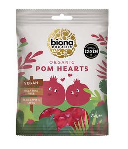 Bilde av Biona Godteri Pomegranate Hearts 75g