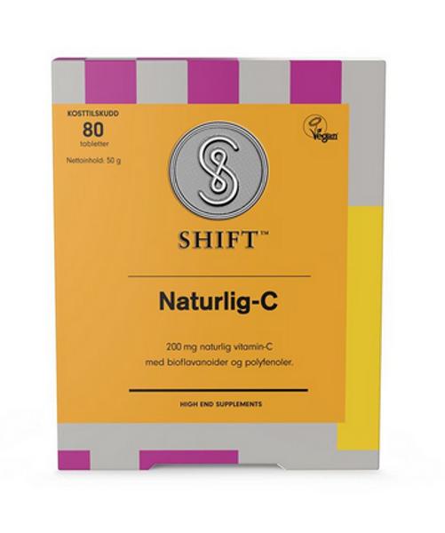SHIFT Naturlig-C 200 mg 80 tabletter